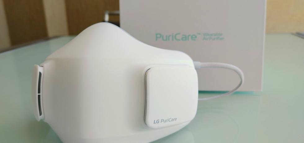LG PuriCare Wearable Air Purifier. צילום צחי הופמן