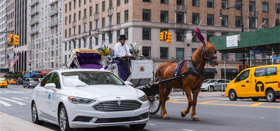 """מובילאיי רכב אוטונומי בניו יורק. צילום יח""""צ"""