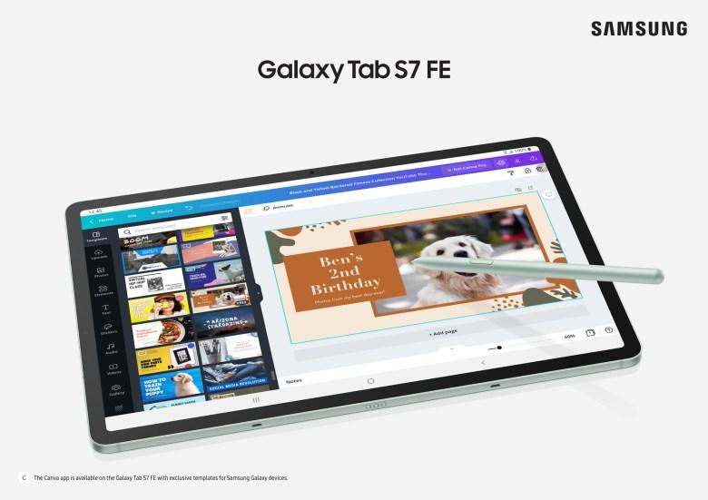 """סמסונג Galaxy Tab S7 FE. צילום יח""""צ"""
