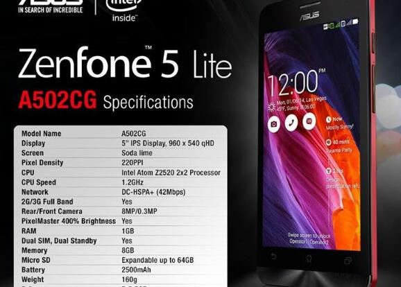 ASUS Has Announced The Zenfone 5 Lite A502CG A Cheaper Version Of Which Was Alongside 4 And 6 At CES In