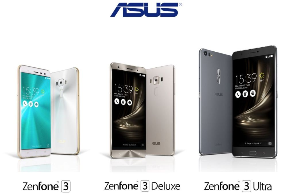 ASUS Zenfone 3, ASUS Zenfone 3 Deluxe, ASUS Zenfone 3 Ultra