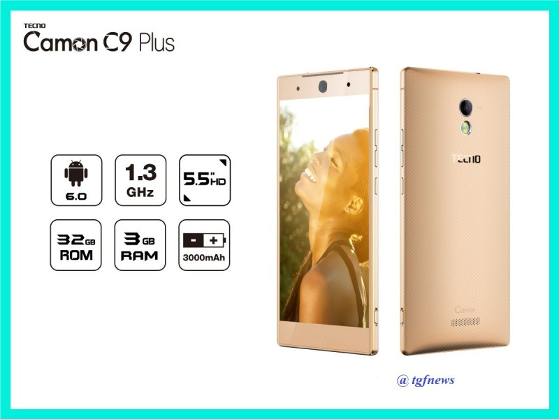 Tecno Camon C9 Plus with 3GB RAM, 32GB Storage Selling In Uganda