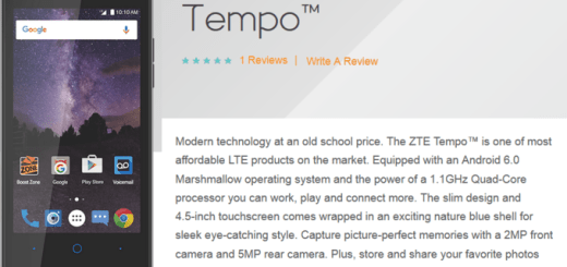 ZTE Tempo Specifications and Pricing