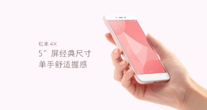 Xiaomi Redmi 4X: 5-inch display, SD435 SoC, 4100mAh battery