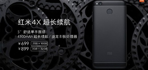 Xiaomi Redmi 4X: 5-inch display, SD435 SoC, 4100mAh battery
