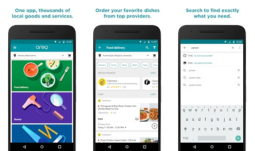 Google Areo Food Delivery and Home Services app Debuts in India