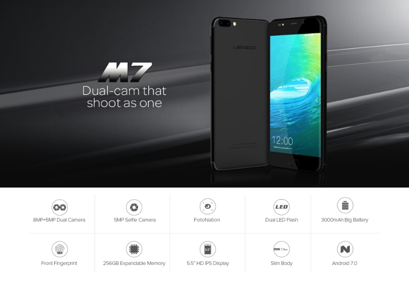 Leagoo M7 Debuts with Android 7.0, Dual Rear Cameras