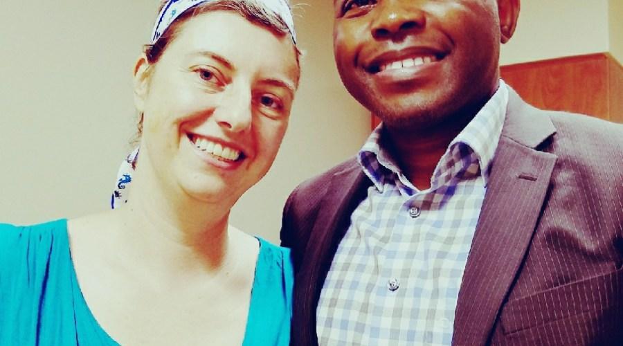 Gail with Dr Etame