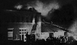 fire at the Chesapeake Western Depot