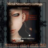 DDD_Metal Strawberry earrings