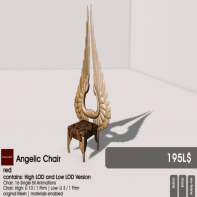 22769 ~ [bauwerk] Angelic Chair red [ad]