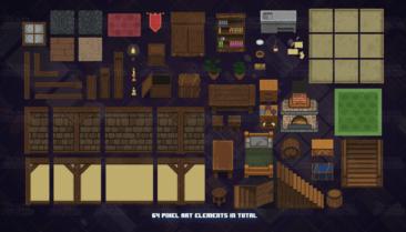 pixel medieval interiors asset thegameassetsmine description cart