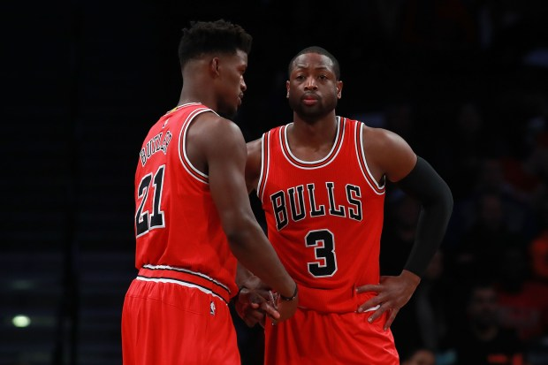 The future of the Chicago Bulls hinges a lot on Jimmy Butler and Dwyane Wade. (Michael Reaves/Getty Images)
