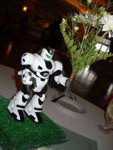 Robot Centerpiece from My Wedding