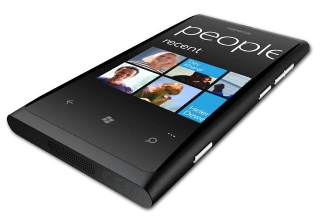 The Nokia Lumia 800 - Nokia's first Windows Phone mobile handset