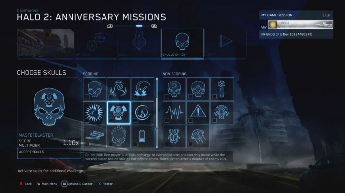 In Halo, the skull collectibles are gameplay modifiers that greatly add to the replayability factor of the Campaign. Nice!