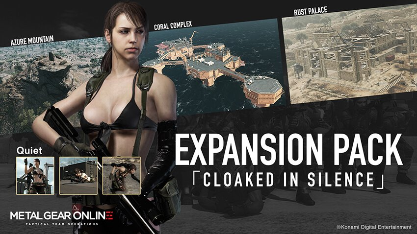 'Cloaked in Silence' DLC for Metal Gear Online featuring Quiet