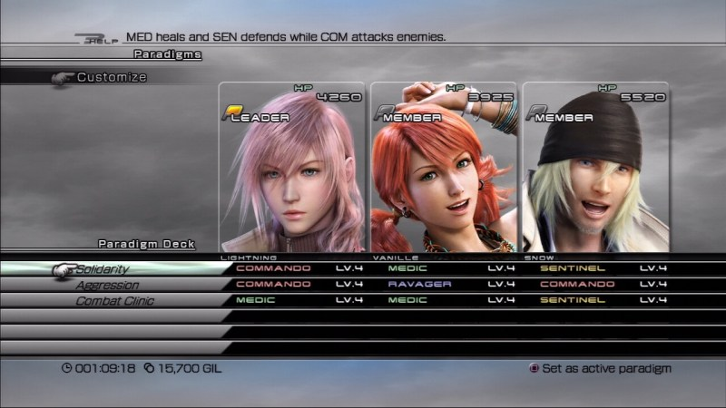 Paradigm Final Fantasy XIII