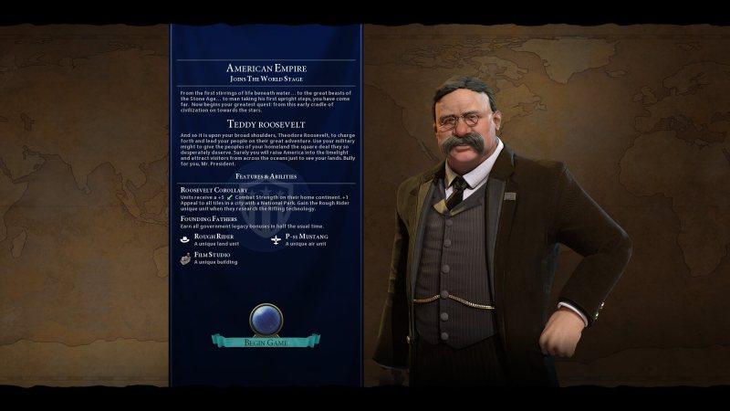 Theodore Roosevelt Civ VI