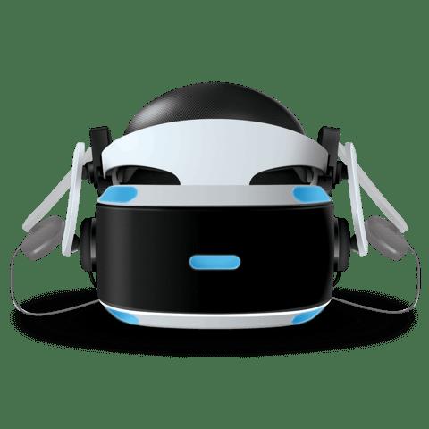 Mantis VR headphones with PSVR front