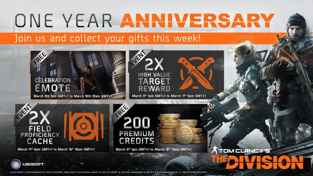 The Division Anniversary Bonus
