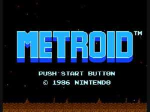 Metroid Title Screen