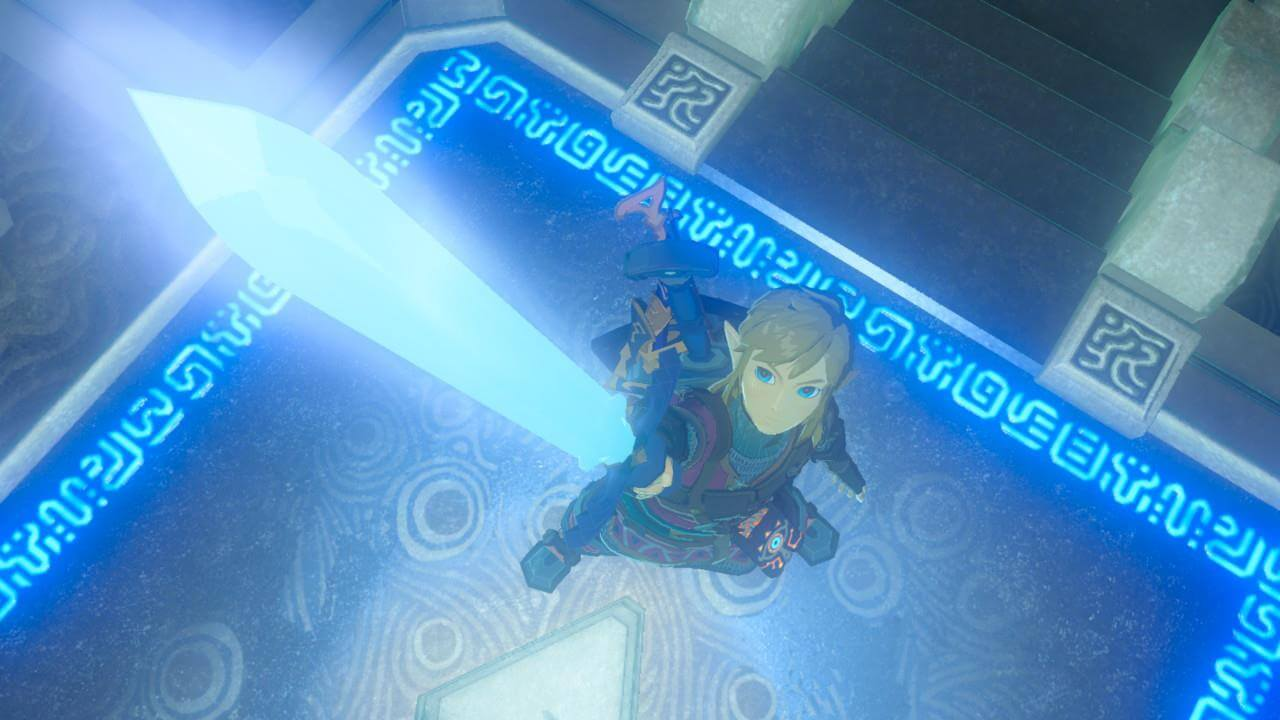 Zelda Breath of the Wild Trial of the Sword Sword Point
