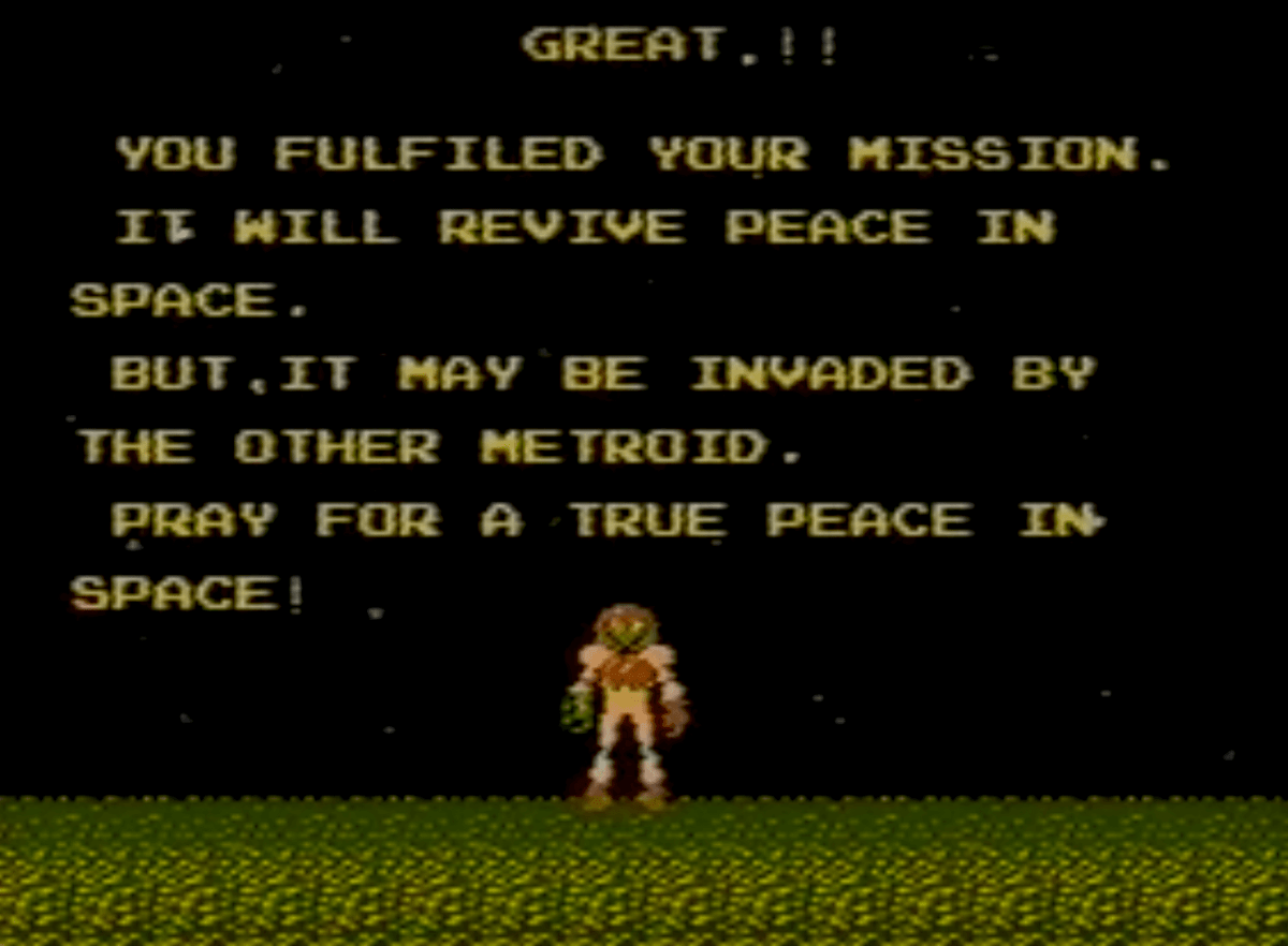 Metroid End Screen Zero Mission Metroid Story