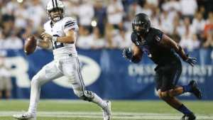 Tanner Mangum started the season as QB 2. Now he looks to lead BYU to a Bowl victory. (Courtesy, CBS Sports)