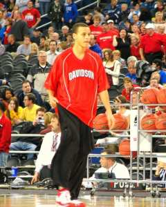 Curry spent his three years at Davidson making ACC teams look silly for passing up on him. Credit: Dave Hogg