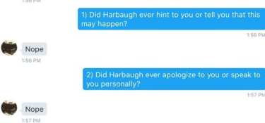 Jim Harbaugh Removes Scholarship