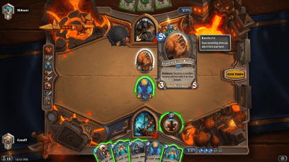 The totem died and I still have the 7/7 on board. Yes I was playing Face Shaman, shame on me!