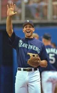A young Alex Rodriguez in Seattle. Photo courtesy of Bob Leverone Sporting News.