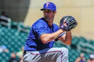 Hamels pitching in incredible form as the postseason looms. Photo courtesy of Jeffrey Becker USA Today Sports