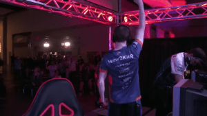 Mew 2 King after his 3-2 win over Hungrybox (photo cred. Twitch.tv/UGC)