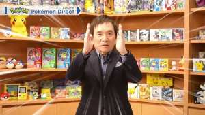 Pokémon creator Satoshi Tajiri appearing on a Pokémon Direct presentation
