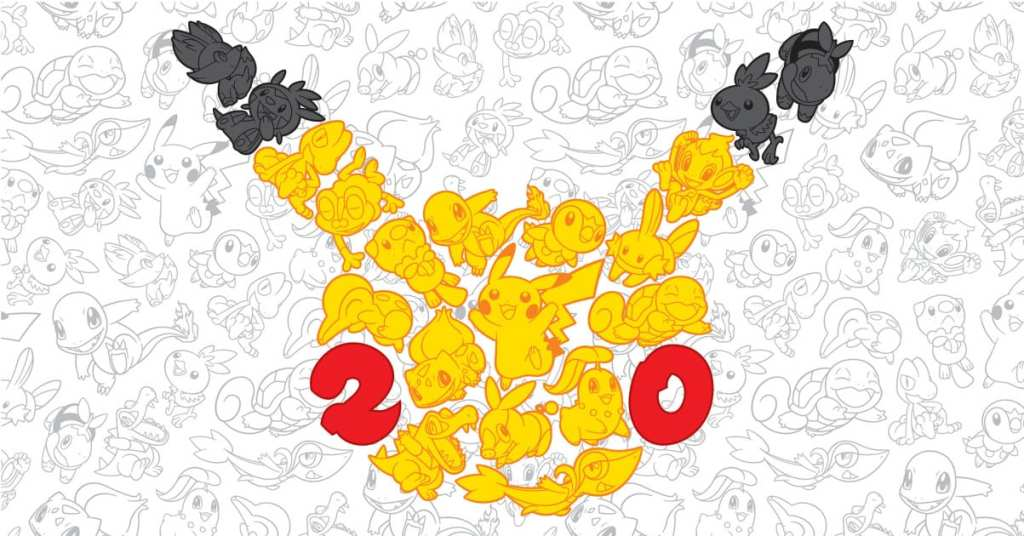 Pokémon 20th anniversary logo