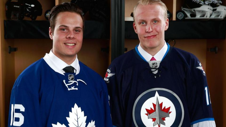 Rookies, Rookie, Calder Trophy, NHL, Hockey, Goals, Assists, Points, Mitch Marner, Auston Matthews, Patrik Laine, Matt Murray, William Nylander, Sebastian Aho, Zach Werenski, Matthew Tkachuk, Artturi Lehkonen, Anthony Mantha, Jimmy Vesey, Toronto Maple Leafs, Winnipeg Jets, Montreal Canadiens, Pittsburgh Penguins, New York Rangers, Columbus Blue Jackets, Detroit Red Wings, Mike Babcock, London Knights, Harvard