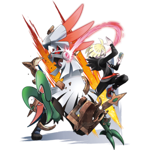 Pokemon Silvally with trainer gladion