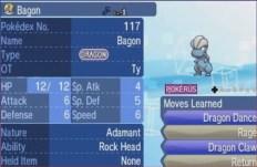 Pokemon Bagon with Pokérus