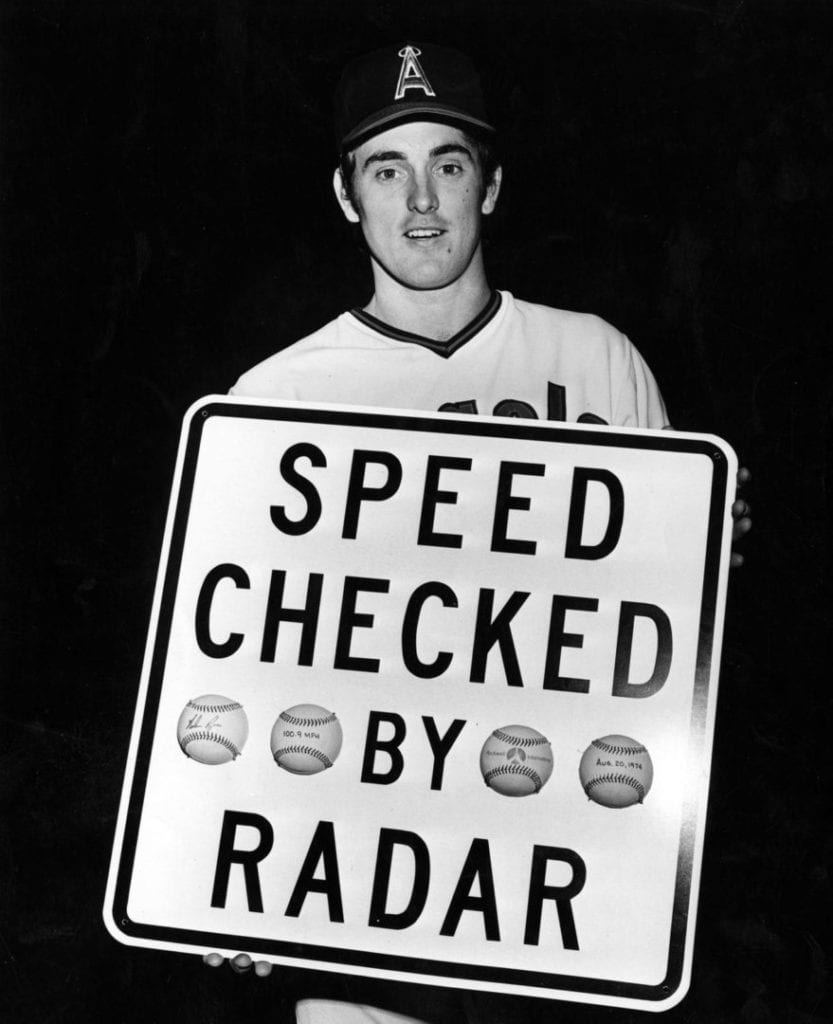 Nolan Ryan record 108 mph fastball