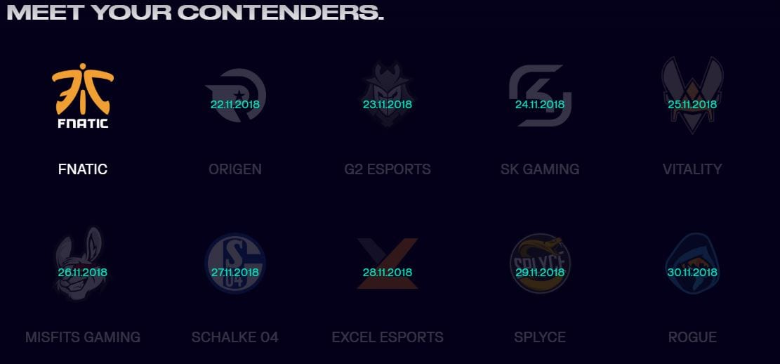 All ten teams for LEC 2019 have been confirmed