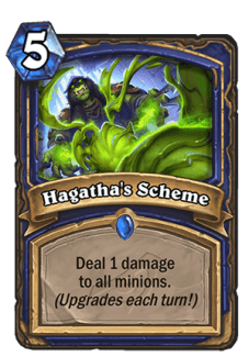The Rise of Shadows Announcement Trailer keyed us in on some new Hearthstone mechanics. The first set of the Year of the Dragon will add Twinspell, Lackeys, and Schemes. All of these card types are additions that seem to increase the overall power level of cards in Hearthstone.TwinspellOf the few revealed cards, one of the new Keywords is Twinspell. What Twinspell means is that after casting a spell, another copy of the card will be placed in the hand for immediate or later use.This is very interesting because essentially what it means is that you can have more than two copies of a card in your deck. Often times there are meta cards that would be good enough that players would desire to have more than two of them in your deck.This is why cards like Shadow Visions are popular. Priests use them to discover additional copies of spells over the deck limit. However, this occurs at the sacrifice of a card slot, since 30 cards is not a lot to fit into a deck. Twinspell means that you have to sacrifice nothing for the additional copy of the spell.The one Twinspell card that was revealed was The Forest's Aid. It's an eight mana spell that summons five 2/2 treants, then adds another copy of itself to the hand after being played. This is a mediocre card, but the implications of Twinspell leaves us wondering if anything super powerful will be printed.LackeysLackeys are new token minions that will generated off of other cards in the set. They provide value not within the cards themselves but usually by aiding the board state in some way. One of the Lackeys discovers a spell, which is very versatile within itself.Depending on the situation, some Lackeys will be much better than others. The only way we've seen Lackeys being produced is by random, so the RNG element is high. Getting a Goblin Lackey or Witchy Lackey could be bad in instances where you don't have anything on board since they only interact with friendly minions.The one card that we've seen so far that generates Lackey