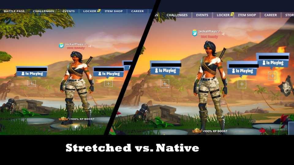 Stretched vs. Native in Fortnite