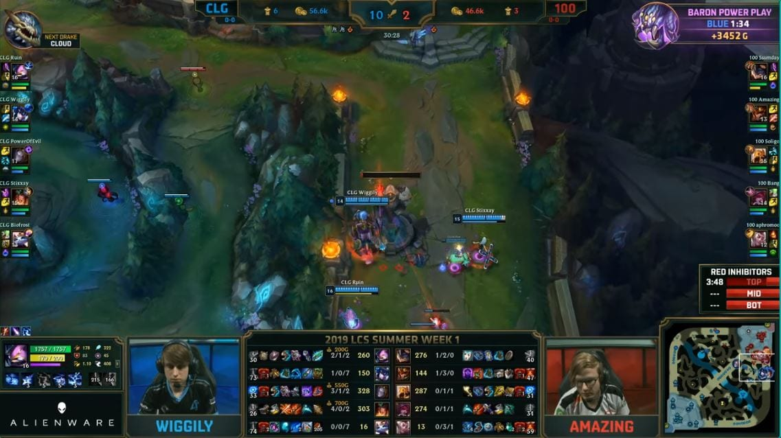 Image from the LCS broadcast.