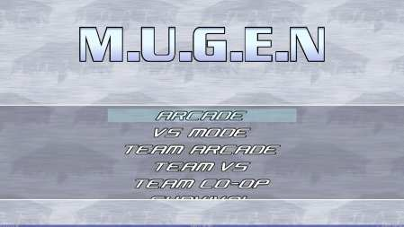 M.U.G.E.Ns default main menu