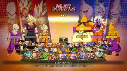 FighterZ Character roster before Videl, Jiren, and GT Goku