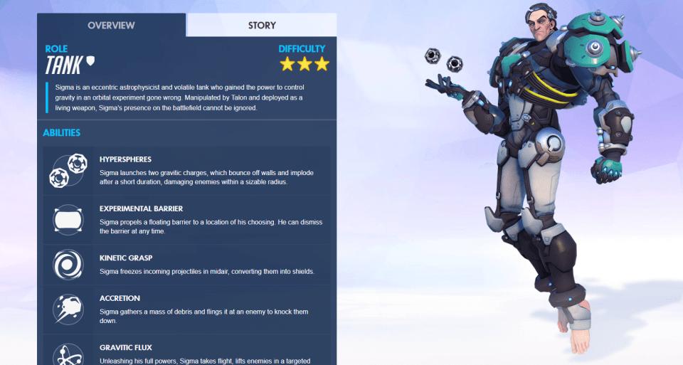 Sigma Overwatch Abilities