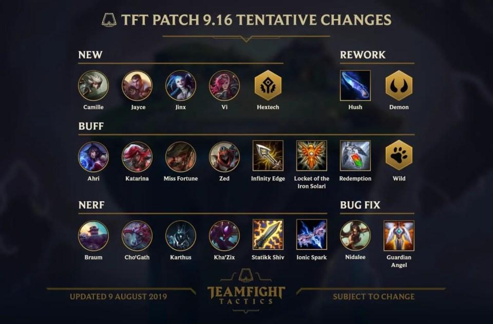 tft patch 9.16