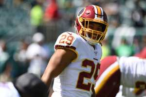 Guice debuts for the Redskins, but lose to Eagles in Week 1.